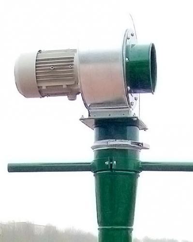 Belüftungsrakete mit drückendem Gebläse
